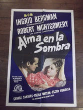 Rage in Heaven, Original Spanish Poster, Ingrid Bergman, Robert Montgomery, '41